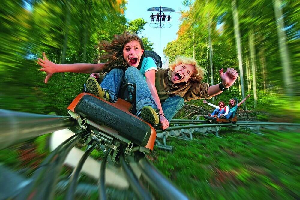 Der Alpine Coaster Trapper Slider im Fort Fun Abenteuerland