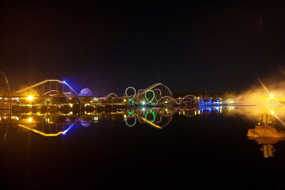Halloweeks Abendstimmung im Heide Park Resort