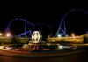 Der neue Star Trek Coaster im Movie Park Germany bei Nacht