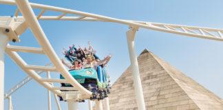 Achterbahn Cobra des Amun Ra im Freizeitpark Belantis