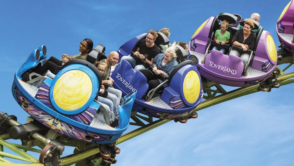 Achterbahn Dwervelwind im Freizeitpark Toverland