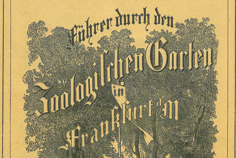 Titelblatt Zooführer 1860 Zoo Frankfurt